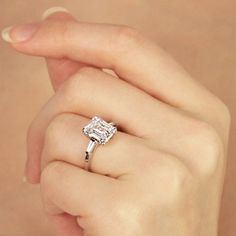 Emerald Cut with side Baguettes. OMG LOVE!!
