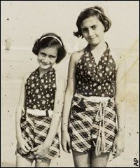 Anne and Margot Frank ~ reminder of how quickly life can change.  Seemingly normal before a terrible evil.