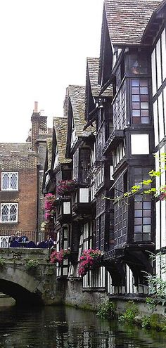 Huguenot weavers' houses near the High Street in Canterbury, England, UK