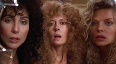 Cher, Susan Sarandon and Michelle Pfeiffer in The Witches of Eastwick, 1987