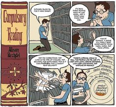 """""""Compulsory Reading"""" by Alison Bechdel  (Now I feel bad for not having read """"Fun Home"""" yet...)"""