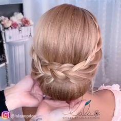 Hairdo For Long Hair, Bun Hairstyles For Long Hair, Bride Hairstyles, Hairstyles 2018, Front Hair Styles, Medium Hair Styles, Bridal Hair Buns, Bridal Updo, Updo Hairstyles Tutorials