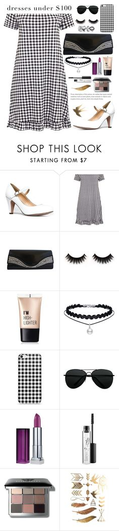 """""""Dress under 100$"""" by evelynn-cole ❤ liked on Polyvore featuring J. Adams, Charlotte Russe, Maybelline, MAC Cosmetics and Bobbi Brown Cosmetics"""