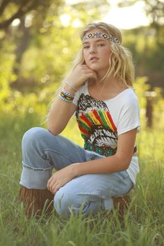 Indian Tee from The Charming Arrow Boutique