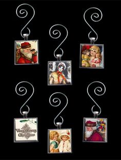 Make Your Own Glass Picture Christmas Ornaments Kit 6 Square