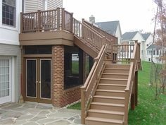 Here's what we need to do!  And the space under the elevated deck becomes a lovely storage space.