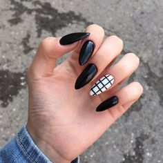 awesome acrylic coffin nails designs in summer 10 ~ thereds.me awesome acrylic coffin nails designs in summer 10 ~ thereds. Grunge Nails, Edgy Nails, Stylish Nails, Swag Nails, Summer Acrylic Nails, Best Acrylic Nails, Nail Summer, Summer Art, Black Nail Designs