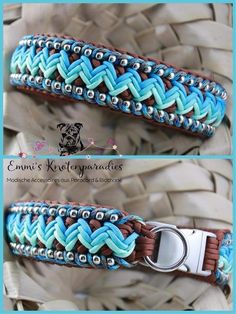 Inspirational Diy Paracord Dog Collar On A Budget. How to Make A Paracord Dog Collar Double King Cobra Knot Diy Dog Collar, Leather Dog Collars, Collar And Leash, Paracord Braids, Paracord Bracelets, Paracord Projects, Paracord Ideas, 550 Paracord, Diy Braids