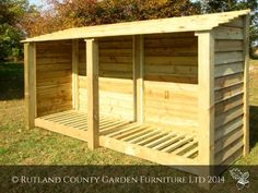 XL DOUBLE 4FT WOODEN LOG STORE/GARDEN STORAGE, GREEN, HEAVY DUTY, HAND MADE, PRESSURE TREATED, NATIONWIDE DELIVERY. Rutland County Garden Furniture http://www.amazon.co.uk/dp/B005SS72CS/ref=cm_sw_r_pi_dp_nBoVvb03K742R