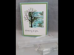cardmaking video tutorial: Marble Background with Clear Block ... Frechie shows how to create artsy background for Sheltering Tree ... useful tips ... pretty card ...