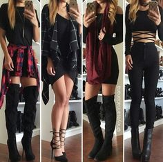 Imagem de fashion, outfit, and black