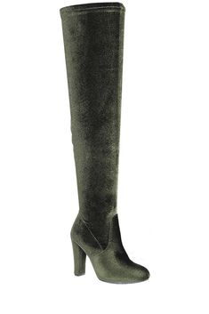 450f970a106 Ladies fashion velvet over-the-knee boot