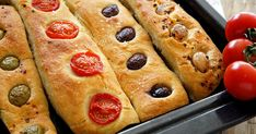 Kitchen Stories: No Knead Baguette Small Tomatoes, Cherry Tomatoes, Leek Pie, Baguette Recipe, Syrup Cake, Kitchen Stories, Soda Bread, Greek Recipes, Tray Bakes