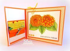 Silvia Scrap: Tutorial 57 Latinas Arts & Crafts Joy Fold Card