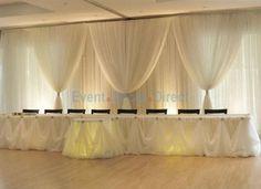 Table Skirting Kits - Wedding Reception Table Decorations
