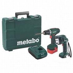 Metabo Akkuschrauber BS12 NiCd inkl.1 Akku 1,7Ah und Akku-Handlampe, im Koffer