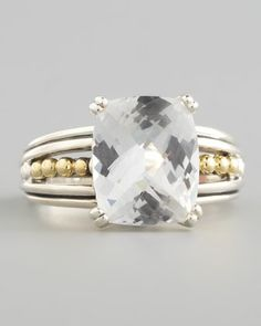 Silver Prism Small Ring, White Topaz by Lagos at Neiman Marcus.