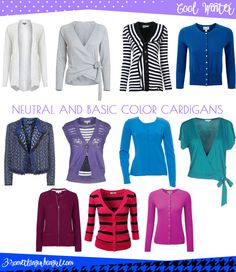 Find your best neutral and basic color cardigans and wear them during this autumn or any time you need a plus layer. Which is the best neutral and basic color shades for Cool Winter seasonal color women? And what is the key style elements of your seasonal palette? Click and read it in my post.