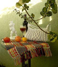 Celtic motif bag, knit cables