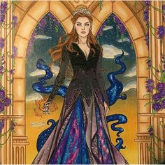 Feyre, High Lady of the Night Court. Art By Crystal Feyre, High Lady of the Night Court. Art By Crystal Feyre, High Lady of the Night Court. Art By Crystal Feyre, High Lady of the Night Court. Art By Crystal Lady, A Court Of Wings And Ruin, Throne Of Glass, Coloring Books, Art, Feyre And Rhysand, Fan Art, Color, Female Characters