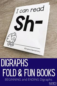 Digraphs first grade and kindergarten are fun with these Digraphs activities Fold & Fun Books. These digraphs worksheets have five fun activities on one sheet of paper. Students simply fold the page and have their own digraph mini book. These are perfect for kindergarten or first grade reading centers and can be used for at home reading practice too. Teaching Phonics, Elementary Teaching, Phonics Activities, Reading Activities, Teaching Resources, Teaching Ideas, Reading Practice, Kids Reading, Reading Skills