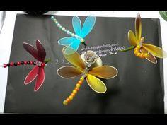 แมลงปอ How to make nylon stocking ( dragonfly) by ployandpoom (ผ้าใยบัว) Butterfly Wall Decor, Butterfly Decorations, Butterfly Crafts, Xmas Decorations, Nylon Crafts, Wire Crafts, Diy And Crafts, Nylon Flowers, Fabric Flowers
