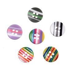Liebe Engel 15mm Raibow Vertical Stripe Buttons Pack of 100 >>> To view further for this item, visit the image link.