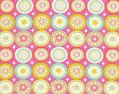 FQ Lalit  in Pink  / Kumari Garden by Dena Designs  / Fat Quarter Quilt Fabric Apparel Fat Quarter