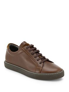 Brunello Cucinelli Leather Lace-Up Sneakers