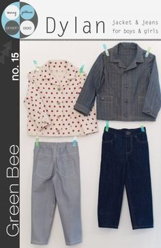 Green Bee Patterns Dylan Jacket and Jeans For Boys and Girls no.15