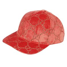 f57a6348248 Light Red Velvet Feel Hat by Gucci