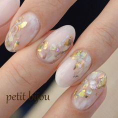Nail art Christmas - the festive spirit on the nails. Over 70 creative ideas and tutorials - My Nails Cute Nails, Pretty Nails, My Nails, Opal Nails, Bridal Nails, Wedding Nails, Perfect Nails, Gorgeous Nails, Nail Atelier