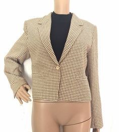Guy Laroche Diffusion Houndstooth Silk/Wool Blend Jacket Size 44/US 14 - EUC #GuyLaroche #BasicJacket