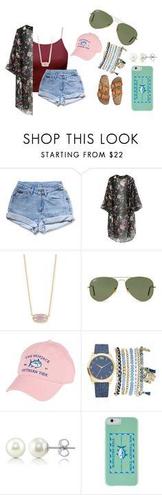 """""""Untitled #122"""" by ajgswim on Polyvore featuring Kendra Scott, Ray-Ban, Birkenstock, Southern Tide, Mixit and BERRICLE"""