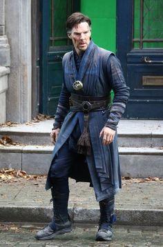 Benedict Cumberbatch Fims 'Dr. Strange' in NYC