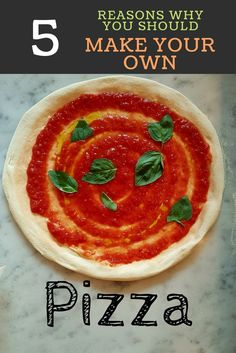 5 reasons why you should make your own pizza Broccoli Pizza, Best Homemade Pizza, Make Your Own Pizza, Pizza And More, Junk Food, Sea Salt, Patience, Healthy, Passion