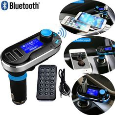 Car Adapter Bluetooth 5.0 Fast Car Charger LED Display Handsfree Call Dual USB Port Car kit FM Transmitter for Cellphone iPad