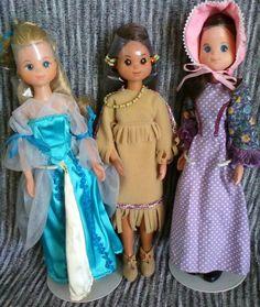3 doll Lot The Sunshine Family STAR SPANGLED DOLLS