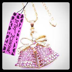 Selling this Betsey Johnson Swarovski Crystal Bells Necklace in my Poshmark closet! My username is: cmccullough9. #shopmycloset #poshmark #fashion #shopping #style #forsale #Betsey Johnson #Jewelry