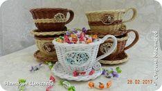 Чашечки-конфетницы БЕЛОСНЕЖКА И ШОКОЛАД С ВАНИЛЬЮ