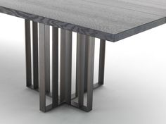 Rectangular metal dining table SHADE by Lema | design Francesco Rota