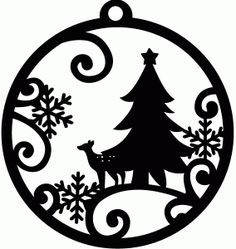 Silhouette Design Store - View Design #71753: christmas tree tag