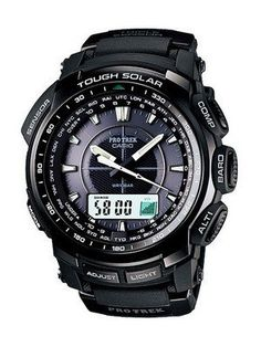 Casio Protrek Watches - Designed for Durability. Casio Protrek - Developed for Toughness Forget technicalities for a while. Let's eye a few of the finest things about the Casio Pro-Trek. Casio Protrek, G Shock Watches, Casio G Shock, Sport Watches, Watches For Men, Men's Watches, Black Watches, Casual Watches, Radio Controlled Watches