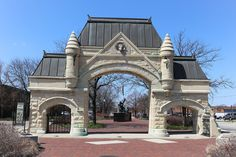Union Stockyard Gate Designed by John Wellborn Root (of Burnham and Root) back in 1875, this gate serves as one of the only remaining footprints to Chicago's once thriving meat-packing industry. Look closely: The bull at the top pays homage to Sherman, a prize-winning beast owned by John B. Sherman, the superintendent of the yards. Union Stockyard Gate, 850 West Exchange Avenue (at Halsted Street).