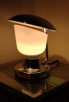 1950s Czech modernist deco lamp, Napako.