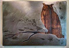 "Owl on a Branch - Wall Art - Metal Art - Reclaimed Wood and Aged Steel - 17"" x 24"" - by Legendary Fine Art by LegendaryFineArt on Etsy"