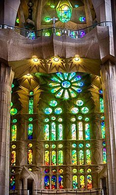 Vitral de la Sagrada Familia, Barcelona by Mariluz Rodriguez Alvarez on 500px