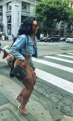 Boujee Outfits, Cute Casual Outfits, Dope Outfits, Stylish Outfits, Summer Outfits, Fashion Outfits, Jean Outfits, Fashion Clothes, Black Girl Fashion