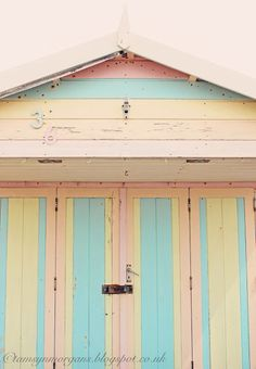 The Villa on Mount Pleasant, pastel beach hut. Pink, yellow and blue. Yellow Aesthetic Pastel, Pastel Yellow, Pretty Pastel, Pastel Colors, Beach Aesthetic, Blue Aesthetic, Weekend House, Dream Weekend, Moore House