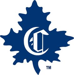 Montreal Canadiens Logo (1910-'11) - A white Old English C on a blue maple leaf
